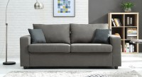 Urban Ladder Condesa Double Metal, Fabric Sofa Bed(Finish Color - Grey Mechanism Type - Pull Out)