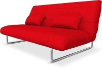 Camabeds Juliette Double Metal Sofa Bed(Finish Color - Red Mechanism Type - Fold Out)