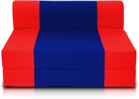 Dolphin Bean Bags Single Fabric Sofa Bed(Finish Color - Red And R.Blue Mechanism Type - Fold Out)