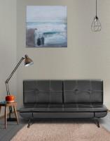 RoyalOak Geneva Single Metal Sofa Bed(Finish Color - Black Mechanism Type - Fold Out)