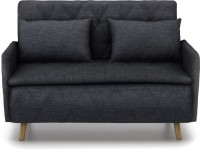 Urban Ladder Makati Single Solid Wood, Fabric Sofa Bed(Finish Color - Natural Mechanism Type - Fold Out)