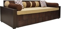 HomeTown Shina Double Foam Sofa Bed(Finish Color - Walnut Brown Mechanism Type - Pull Out)