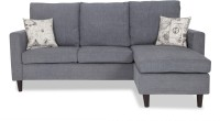 View Urban Living ECO LOUNGER Fabric 3 Seater Standard(Finish Color - Grey) Price Online(Urban Living)