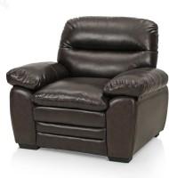 View Royal Oak Brio Leatherette 1 Seater Sofa(Finish Color - Brown) Price Online(Royal Oak)