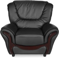 View Nilkamal Lunar Leatherette 1 Seater Sofa(Finish Color - Black) Furniture (Nilkamal)