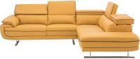 Durian JASPER Leatherette 5 Seater  Sofa(Finish Color - MUSTARD YELLOW)