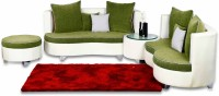 View Home City Fabric 7 Seater Sectional(Finish Color - White & Green) Furniture (Home City)