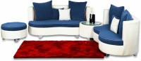 View Home City Leatherette 7 Seater Sectional(Finish Color - White & Blue) Furniture (Home City)