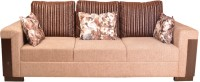 View HomeTown Amazon Fabric 3 Seater Sofa(Finish Color - Brown) Furniture (HomeTown)