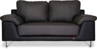 View Durian Mesa Leather 2 Seater Standard(Finish Color - Black & Grey) Price Online(Durian)