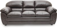 View HomeTown Mirage_br Leatherette 3 Seater Sofa(Finish Color - Dark Brown) Price Online(HomeTown)