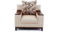 View Furnicity Fabric 1 Seater Sofa(Finish Color - Beige) Furniture (Furnicity)