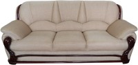 View Vintage Ivoria Fabric 3 Seater Sofa(Finish Color - MAHOGANY) Price Online(Vintage)