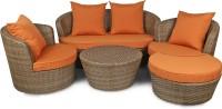 Svelte Classy Fabric 2 + 1 + 1 Brown Sofa Set