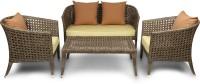 Svelte Classy Fabric 2 + 1 + 1 Brown Sofa Set(Configuration - Straight)