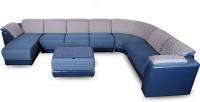 Godrej Interio Broadway Fabric 3 + 2 + 1 + 1 Ink Blue Sofa Set(Configuration - Modular)