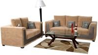 View Home City DOUGLAS Fabric 3 + 2 Beige Sofa Set Furniture