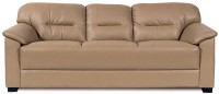 View Home City MIRLY Leatherette 3 Seater Sofa(Finish Color - Beige) Furniture (Home City)