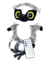 Shrih Multifunctional OWL Plush Toy Wireless Micro SD Memory Card Stereo w/ FM Radio Microphone Portable Bluetooth Laptop/Desktop Speaker(Black and White, Mono Channel)
