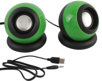 Speed Multimedia 2.0 E08 Mini Usb Portable Laptop/Desktop Speaker(Green, 2.0 Channel)