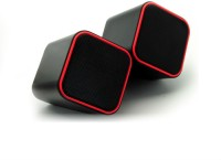 Shrih 2.0 Channel USB Multimedia 3 W Portable Laptop/Desktop Speaker(Black Red, 2.0 Channel)