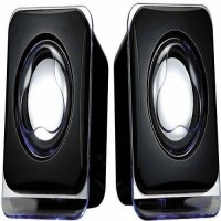 VU4 Mini USB Speaker Laptop/Desktop Speaker(Black, 2.0 Channel)