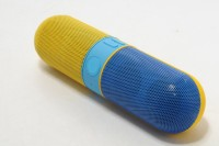 Fingers Dual Colour Pill Blue & Yellow Portable Bluetooth Mobile/Tablet Speaker(YELLOW, BLUE, Stereo Channel)