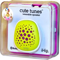 iHip Cute Tune Wearable Bluetooth Portable Bluetooth Mobile/Tablet Speaker(Green, Mono Channel)