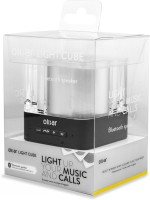 Olixar Light Cube Bluetooth Mobile/Tablet Speaker(Silver, Mono Channel)