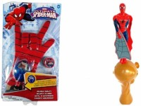 GoMerryKids Super Combo - Ultimate Flying Spiderman Shooter + Marvel Hero Fx Glove Hand Shoot Light,music Transmitter(Multicolor)