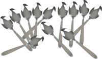 KCL Plain Stainless Steel Tea Spoon Set(Pack of 12)