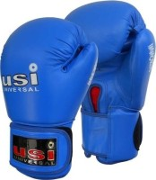 USI 609M Boxing Gloves (Free Size, Blue)