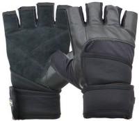 Nivia Pro Wrap GG-922 Medium Gym & Fitness Gloves (M, Black)