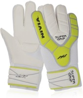 Nivia Super Grip(GG-882) Goalkeeping Gloves (L, White, Yellow)
