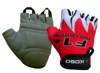 Kobo Biker Red Cycling Gloves (S, Red)
