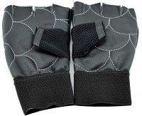 Sports 101 Premium Leather with Wrist Support Gym & Fitness Gloves (Free Size, Black)