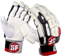 Stanford Platinum Mens Batting Gloves (L, White, Black, Red)