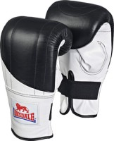 Lonsdale Pro Fitness Style Bag Mitts Boxing Gloves (L, Black)