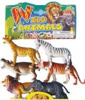 Angella WILD ANIMALS (6 PIECES) LARGE PLASTIC TOY SET(Multicolor)