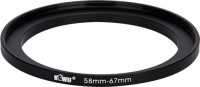 JJC Kiwifotos Metal Adapter Ring SU 58-67 Step Up Ring(58 - 67 mm)