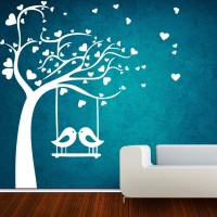 Decor Kafe Medium Wall Sticker For Bedroom  Sticker(Pack of 1)