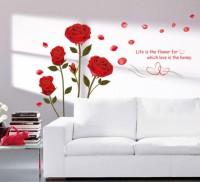 Aquire Bedroom Romantic Rose Flowers 6005(Multicolor)