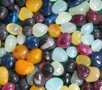 Decor Pebbles FSP017 Polished Asymmetrical Onyx Pebbles(Multicolor 1 kg)