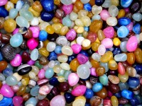 Chave CHV-PBL Polished Asymmetrical Onyx Pebbles(Multicolor 250 g)