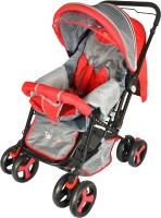 Toy House Baby Stroller Stylish Pram(3, Red)