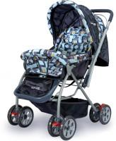 LuvLap Starshine Baby Pram Cum Stroller(3, Blue)