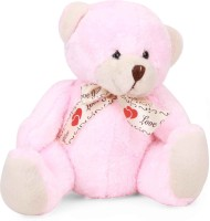 Starwalk Bear Plush Baby Pink Colour With Love You Ribbon - 20 cm(Pink)