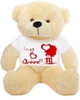 Grab A Deal Big Teddy Bear wearing a Romantic Love Couple T-shirt  - 24 Inch(Pink)