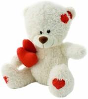Grab A Deal Feet Sitting Double Heart Teddy Bear  - 18 inch(White)