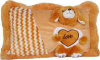 Cuddles collections Soft baby pillow Brown  - 36 cm(Brown)